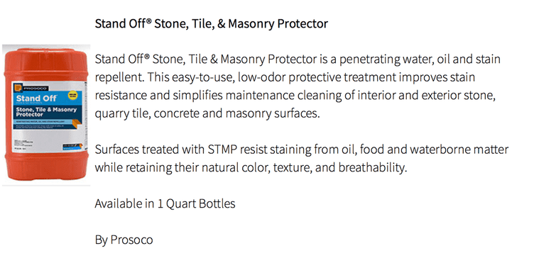 Stone, Tile, and Masonry Protector